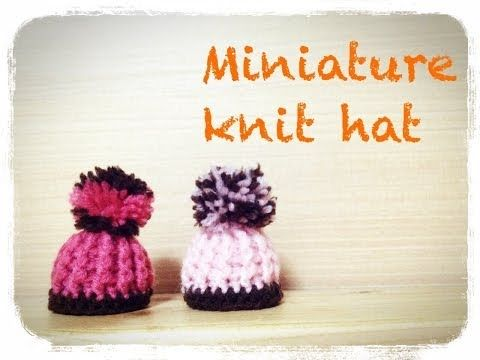 ▶ How to crochet a miniature knit hat ミニチュア ニット帽の編み方 by meetang - YouTube English included