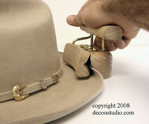 Hat Making Tool: Hinge-Shackle style Wooden Curling Tool for the Homburg Hat Brim - by Mark A. DeCou @ LumberJocks.com ~ woodworking community