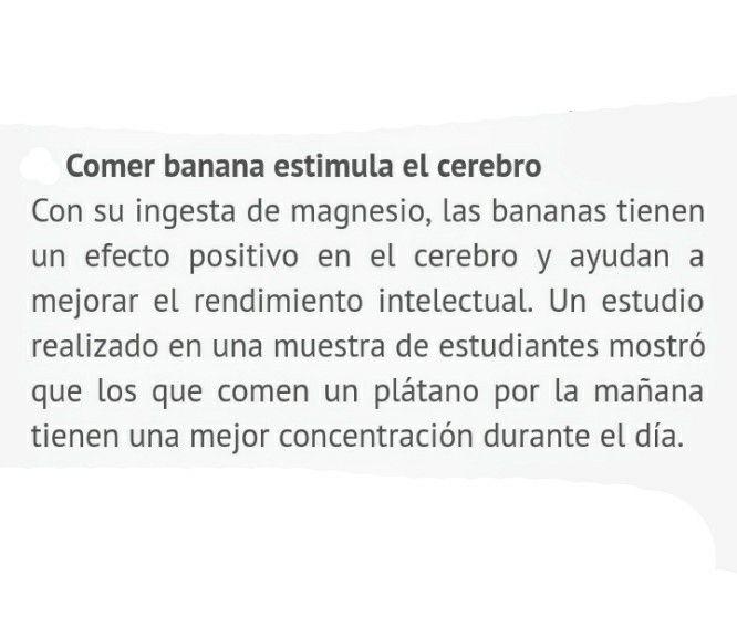 La banana estimula el cerebro