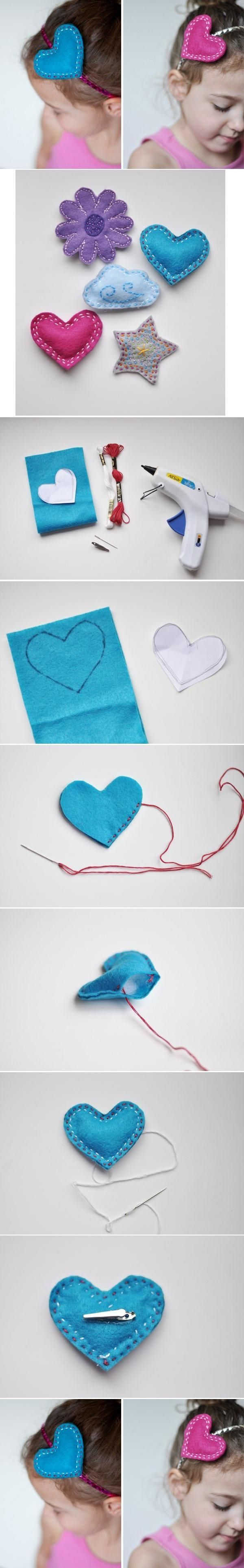DIY Lovely Felt #Ornament hearts   #DIY