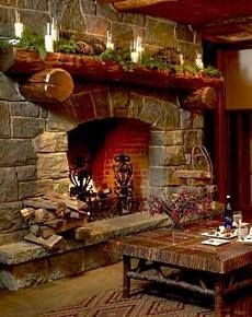 Love the log mantle