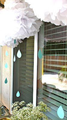 Baby shower- super cute! I love the blue/teal, grey, yellow and white. ;)