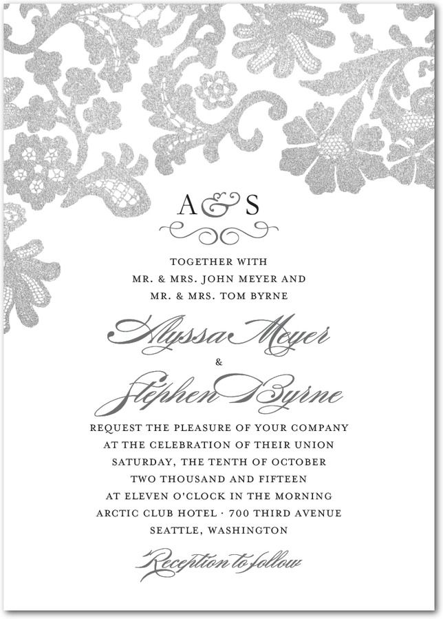 luscious lacing wedding invitation - Sams Club Wedding Invitations