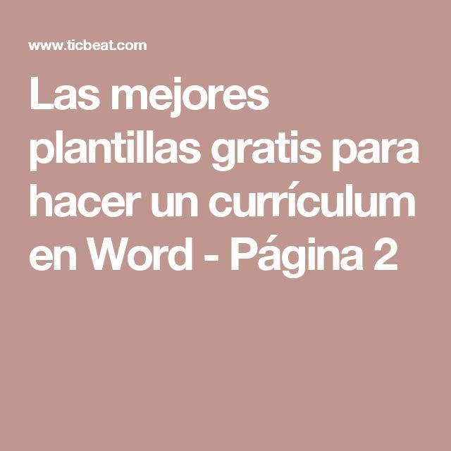 m u00e1s de 25 ideas  u00fanicas sobre plantillas de word para curr u00edculum gratis en pinterest