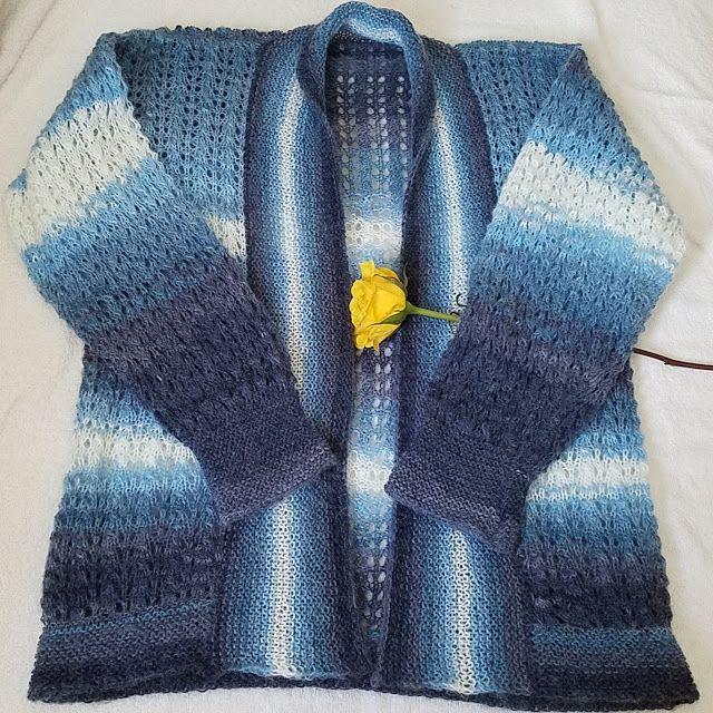 Zręczne ręce: Sweterek ażurowy, rozpinany z plisą