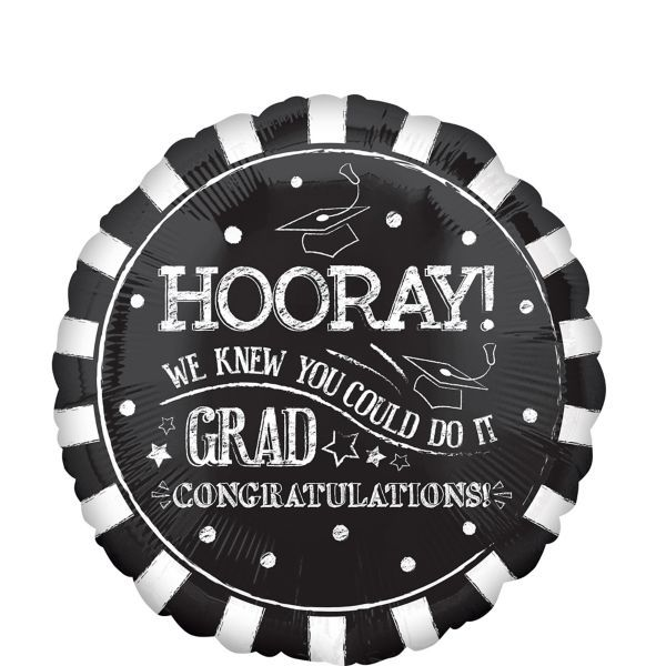 Giant Chalk Hooray Graduation Balloon
