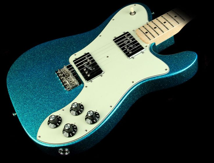 Fender Special Edition FSR Classic Series '72 Telecaster Deluxe Electric Guitar Aqua Flake