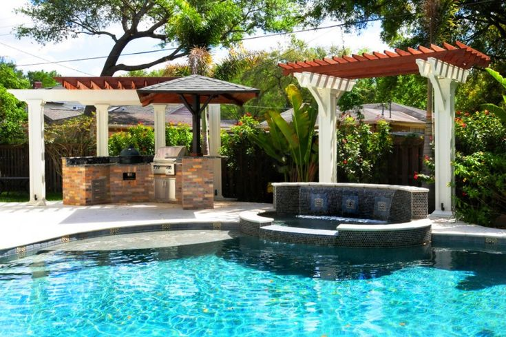 hot tub waterfall outdoor grill areas craftsman tampa bay pool stone tub of Exceptional Tampa Bay Pools