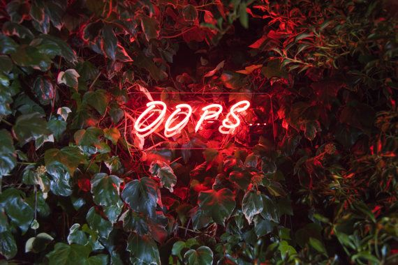 Oops Neon light by Susanisgone on Etsy