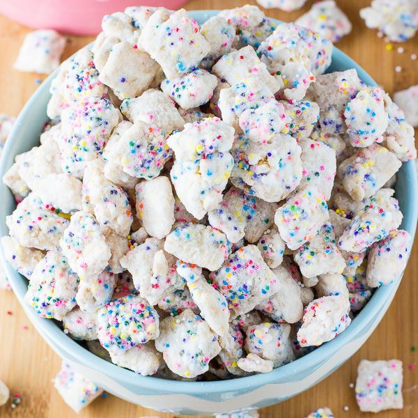 A recipe for Sugar Cookie Puppy Chow. An easy, no bake puppy chow recipe that taste just like a sugar cookie.