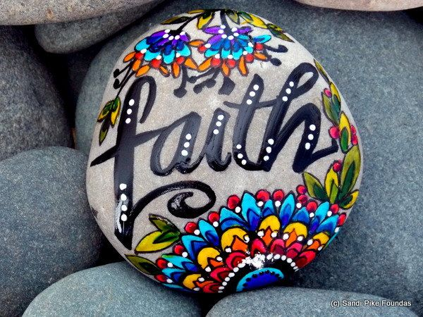 faith. have a little / painted rocks / painted stones / rock art / rocks / sea stones / boho art / believe / gifts of faith / trust / rocks by LoveFromCapeCod on Etsy