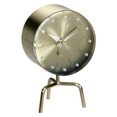 Tripod Clock by George NelsonBrass Tactical, Tripod Clocks, George Nelson, Ro Apartments
