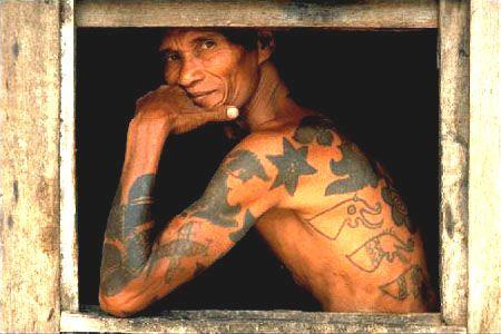 Dayak, traditional tatoo