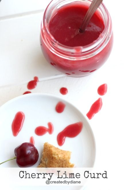 Creamy and delicious cherry lime fruit curd. Cherry custard is the only other name I can think to call this, other than delicious.
