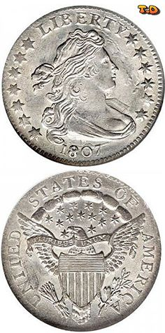 N♡T.Draped Bust Dimes Heraldic Eagle Reverse (1798-1807) Designer - Engraver: Robert Scot Metal Composition: 89% Silver - 11% Copper Diameter: 19 mm Mass / Weight: 2.7 grams