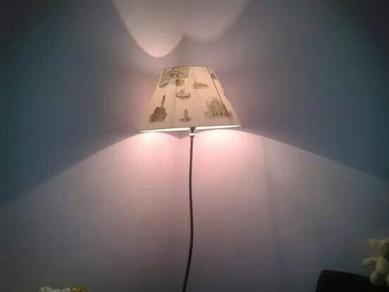 Hand decorated lampshade