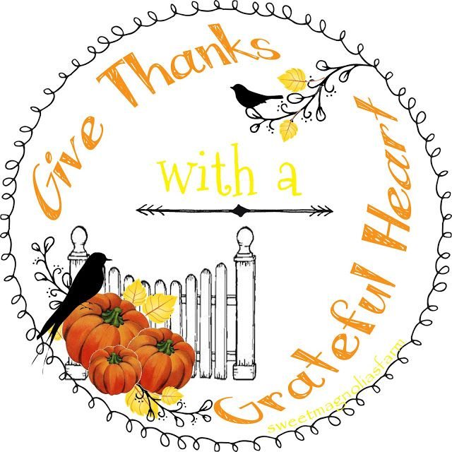 Sweet Magnolias Farm Fall Give Thanks Design for personal use
