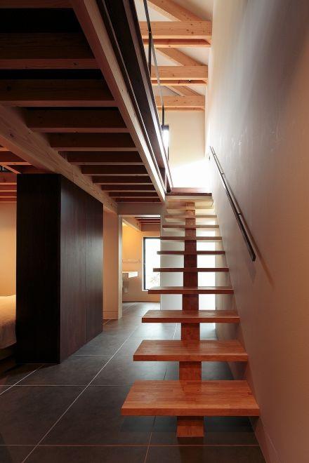[階段 木のスケルトン階段 image]