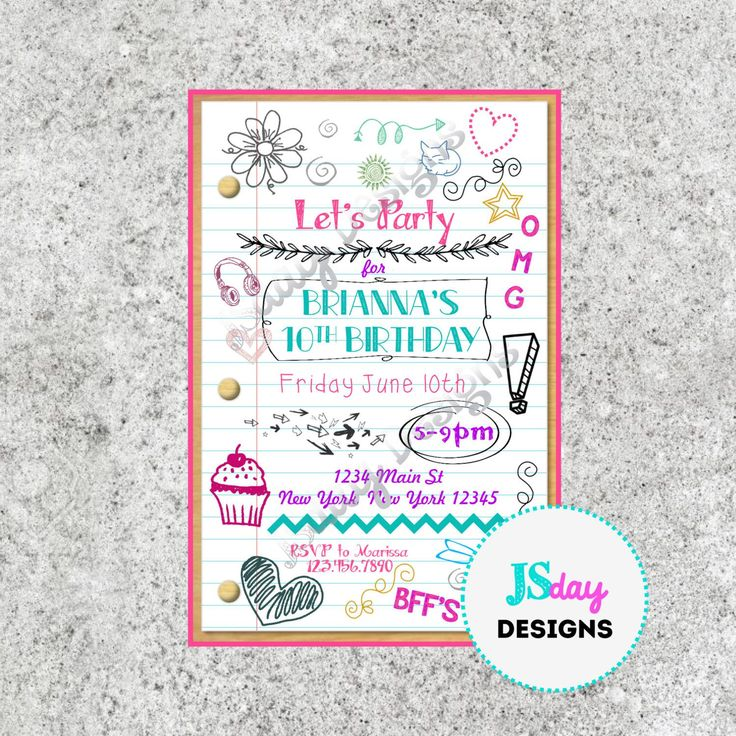 Teenage Birthday Invitations Templates Free · EinladungenGeburtstageJugendliche  GeburtstagseinladungenGeburtstagseinladungsschablonenGeburtstagsemojiMädchen  ...