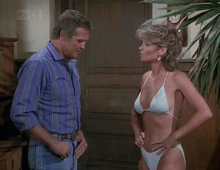 Markie Post with Lee Majors in Fall Guy