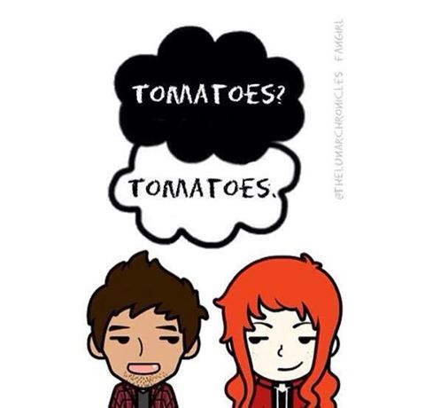wolf and scarlet!!>>>SOMEONE HELP ME I CAN'T GET OVER THE TOMATOES<---- OMG YES YES YES