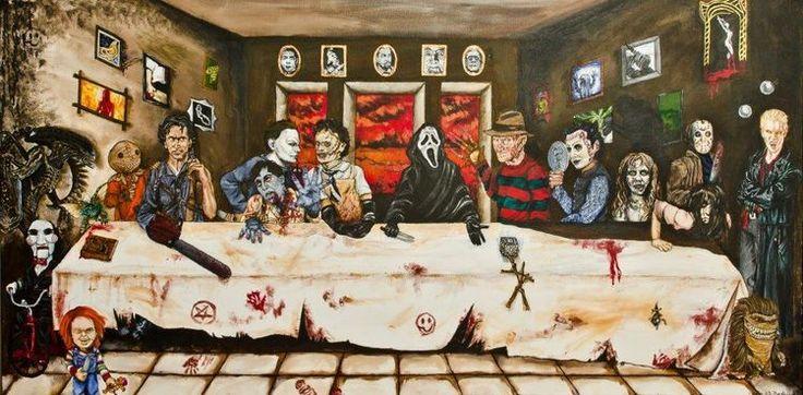 Das letzte Abendmahl: Horror Movie Stars (2) - http://www.dravenstales.ch/das-letzte-abendmahl-horror-movie-stars-2/