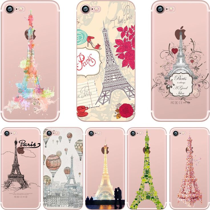 Silicone Phone Cases with Eiffel Towerfor Apple iPhone 5S, SE, 6, 6S, 6 Plus, 7, 7 Plus //Price: $14.99 & FREE Shipping //     #cases
