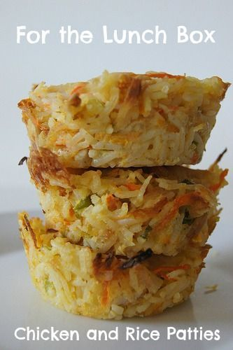 Chicken and Rice Patties - not only does this recipe look tasty