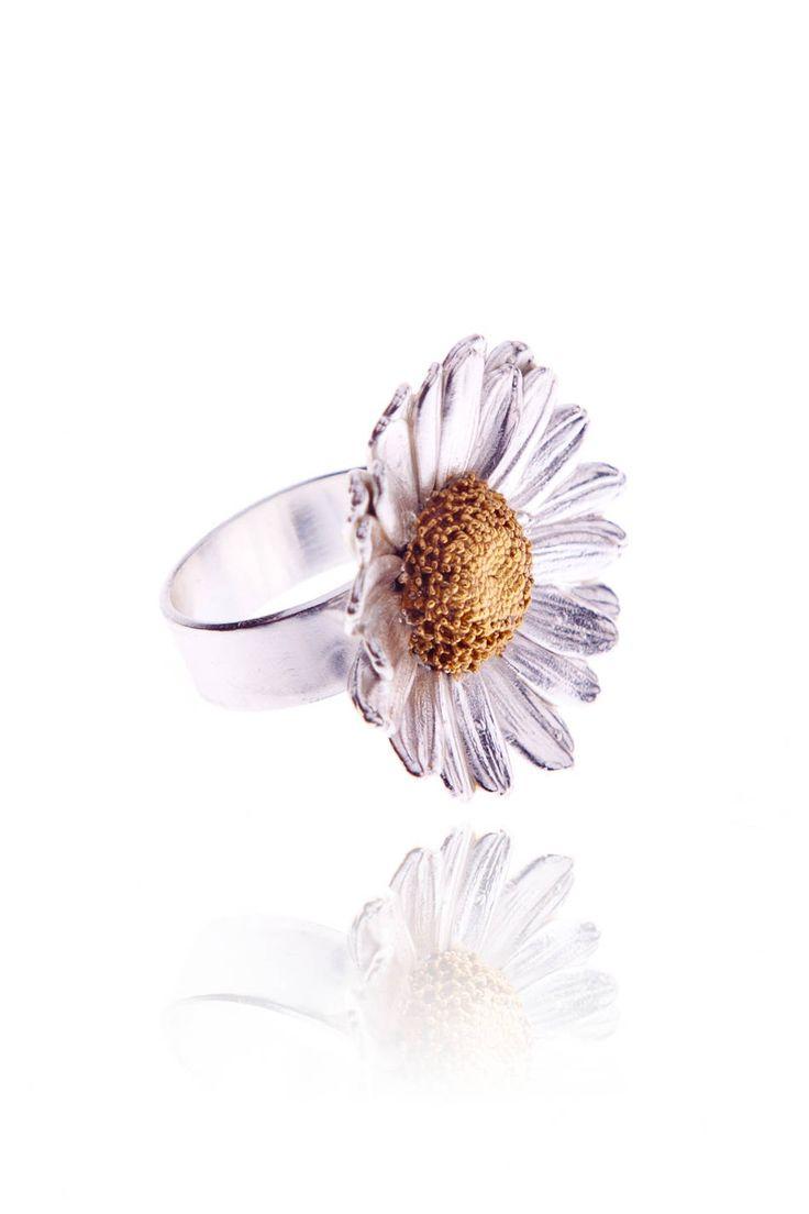 PRADELLE Pierścionek Daisy Field srebrny
