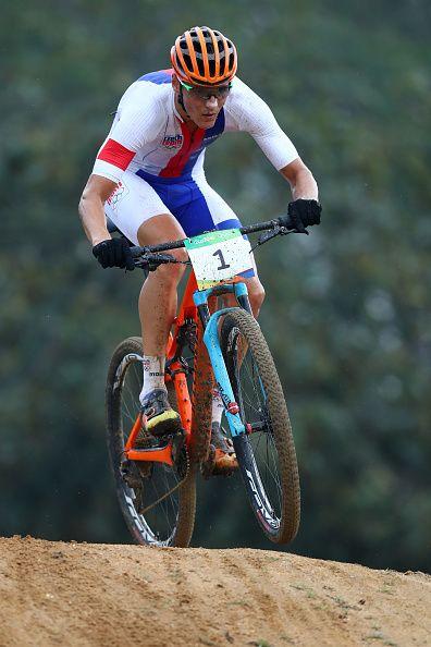 Jaroslav Kulhavy of Czech Republic rides during the Men's CrossCountry on Day 16…