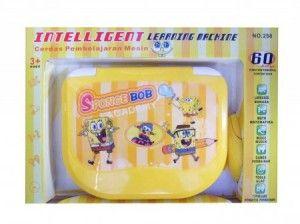 Machine Spongebob EDUA22  105.000  Laptop dengan motif spongebob yang lucu. Dioperasikan dalam 2 bahasa (inggris dan indonesia). Ada 60 fungsi : belajar hurur, belajar kata, belajar angka, pengurangan, penambahan, perkalian, pembagian, typing, object catching, dll. Dilengkapi dengan mouse, Menggunakan batre AA 3pc. Volume 1kg