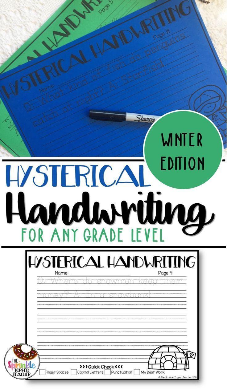 Winter Handwriting Worksheets Cursive And Print Teaching