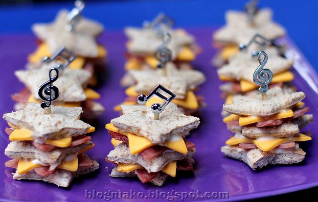 Star shaped Ham and cheese sandwiches. Cookie cutter or that Pop-Fresh is just $10 at Walmart!