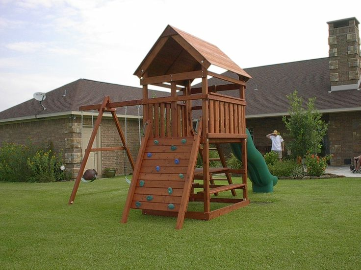 how to build a wooden swing set frame