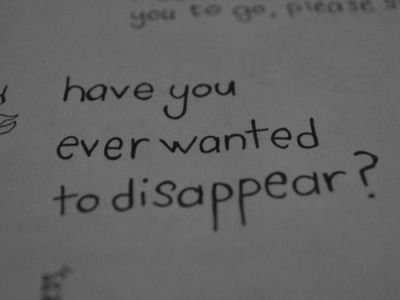 disappear, quotes, and depression image