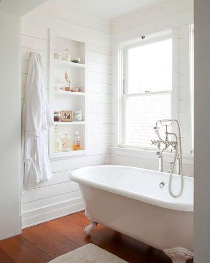 Timber floor in bathroom instead of tiles.
