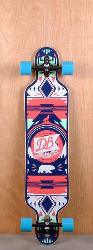 "The DB Prebuilt 40"" Red and Seafoam Urban Native is designed for cruising and carving."