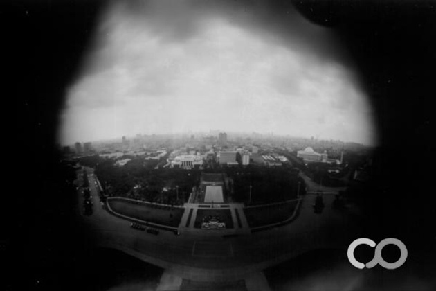 Aerial view from the top of Monas, Jakarta