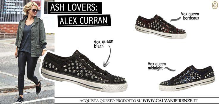 La modella e fashion addicted Alex Curran si è lasciata sedurre da Ash scegliendo Vox, la scarpa sportiva ricca di borchie e paillettes per un look sportivo ma glamour! #ashitalia