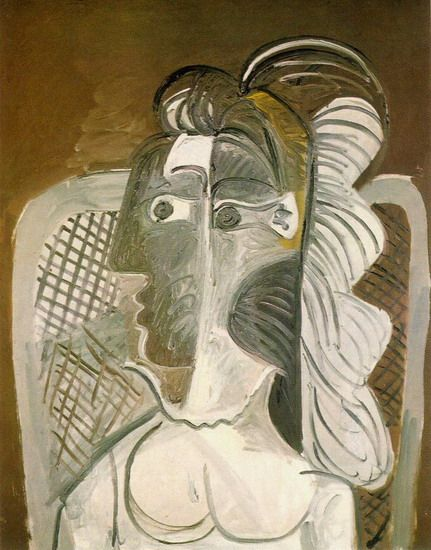 """Pablo Picasso - """"Woman in an armchair"""", 1962"""