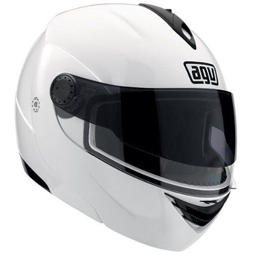 AGV Miglia 2 Modular Motorcycle Helmet (White, Medium)