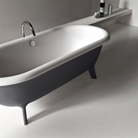 Agape - white cristalplant grey retro vintage bathtubs