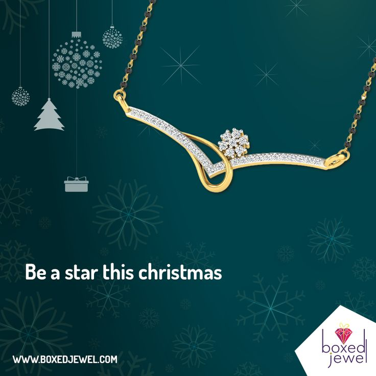 Be a star and sensation of the #Christmas parties with enchanting #Mangalsutras. www.boxedjewel.com #Gold #Diamond #Wedding