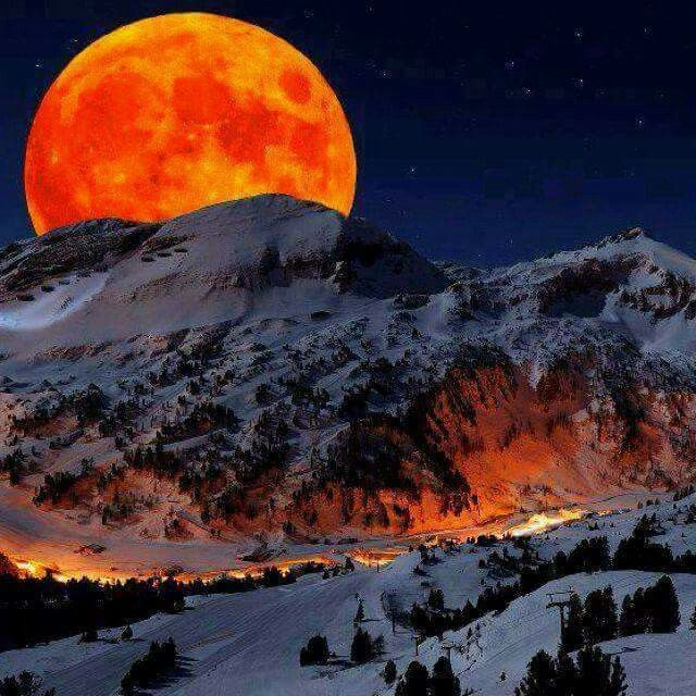 Full moon over the Colorado Rockies. Can anything  be more Beautiful? As a native,I am so  blessed  to live here!!!
