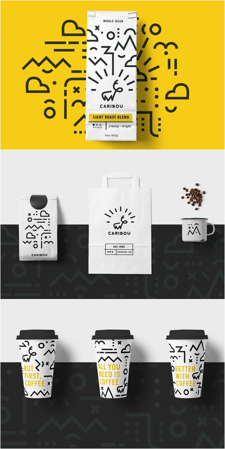 Caribou Coffee Rebrand and Packaging by Student