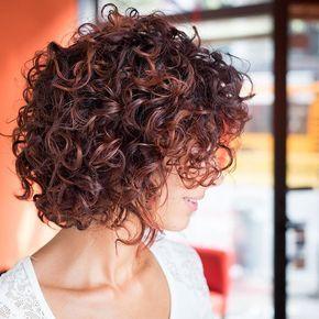 Short, curly hair
