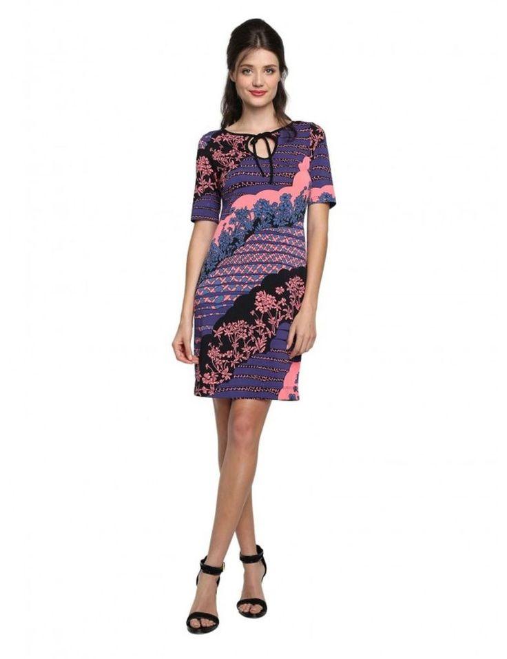 NWT Leona Edmiston Claire shift dress XS (8-10) Cute eye catching print