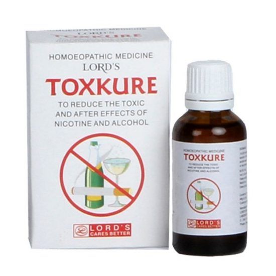 Lords Toxkure is an ideal homeopathic formula to reduce the toxic and after affects of nicotine (smoking cessation) and alcohol. It also acts as an effective antidote drug to reduce the toxicity ge…