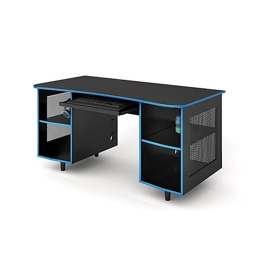 Whalen Emergent Gaming 60 Quot Laminate Computer Desk Black