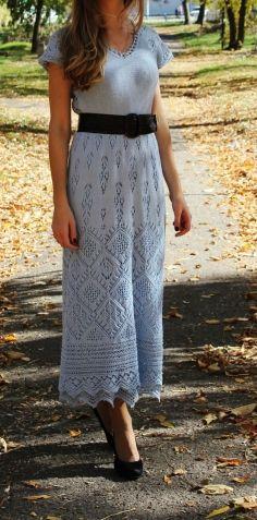 """Платье """"Ювента"""" для дочери по мотивам шетландских узоров / Вязание спицами / Вязание для женщин спицами. Схемы вязания спицами"""